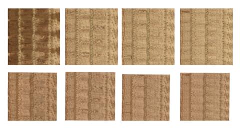 Viiluarkkeja ennen ja jälkeen kuivausprosessin